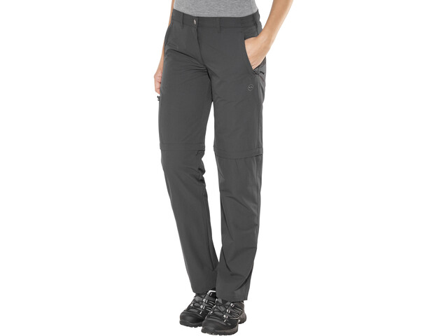 High Colorado Chur 3 Zip-Off Trekking Trousers Women, anthracite
